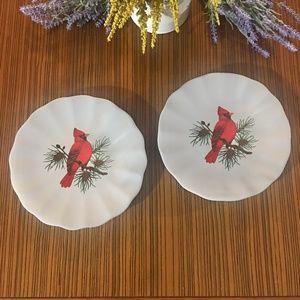 American Atelier Athena 5166 Red Cardinal Plates